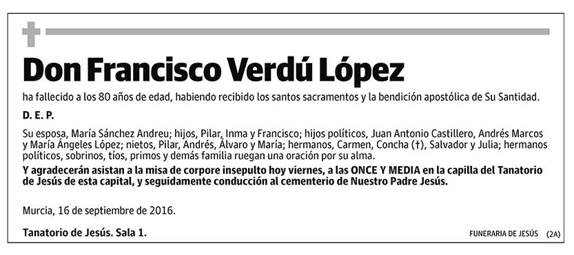 Francisco Verdú López