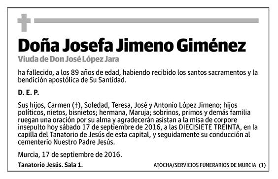 Josefa Jimeno Giménez