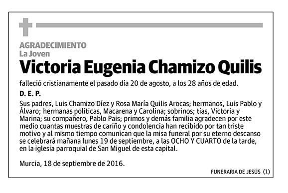 Victoria Eugenia Chamizo Quilis