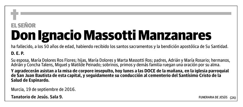 Ignacio Massotti Manzanares