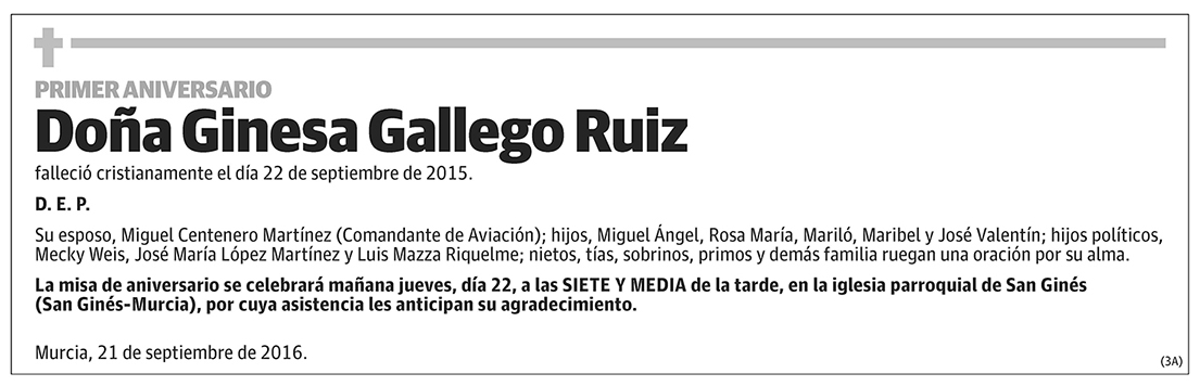 Ginesa Gallego Ruiz