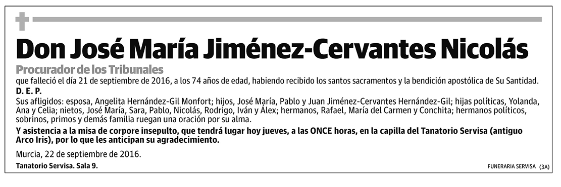 José María Jiménez-Cervantes Nicolás