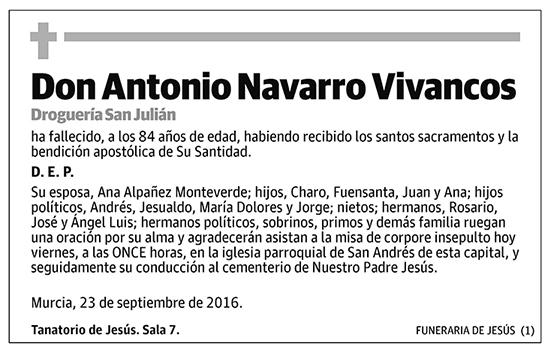Antonio Navarro Vivancos