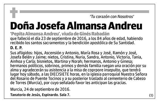 Josefa Almansa Andreu