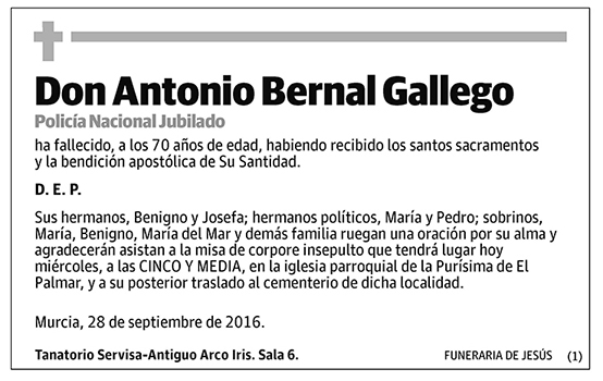 Antonio Bernal Gallego