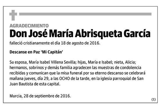 José María Abrisqueta García