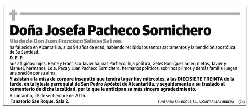 Josefa Pacheco Sornichero