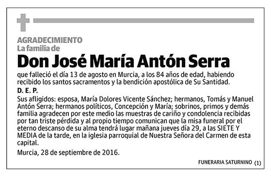 José María Antón Serra