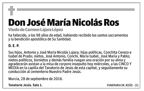 José María Nicolás Ros