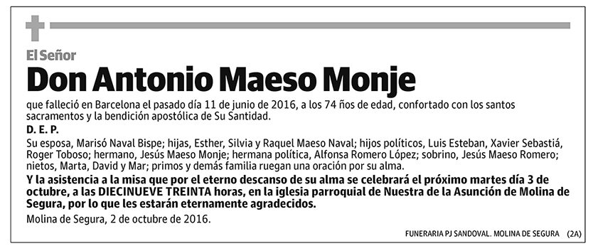 Antonio Maeso Monje