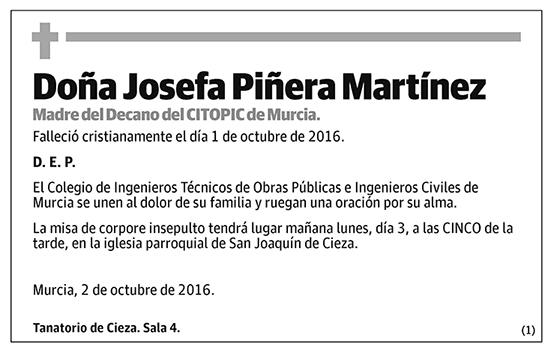 Josefa Piñera Martínez