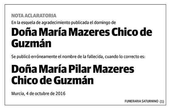 María mazeres Chico de Guzmán