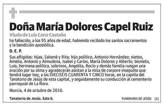 María Dolores Capel Ruiz