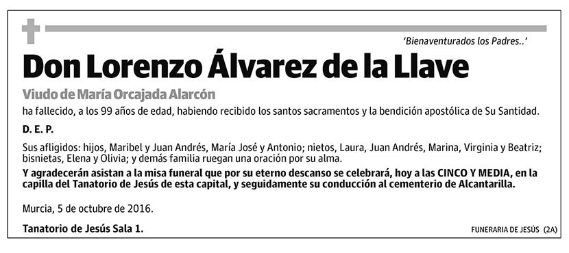 Lorenzo Álvarez de la Llave