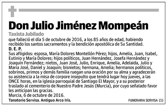 Julio Jiménez Mompeán