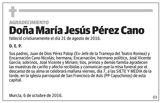 María Jesús Pérez Cano