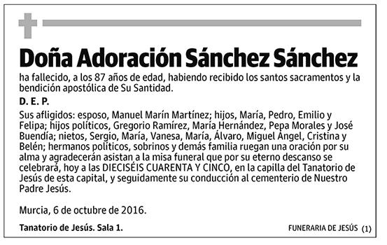 Adoración Sánchez Sánchez