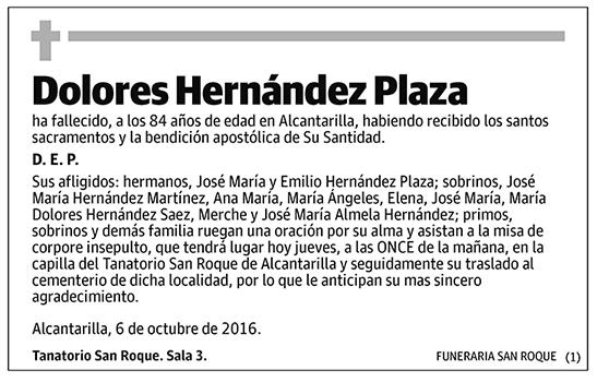 Dolores Hernández Plaza