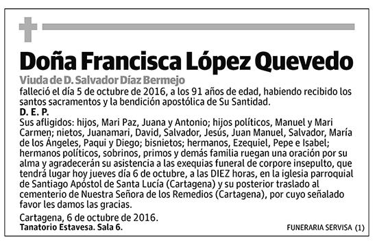 Francisca López Quevedo
