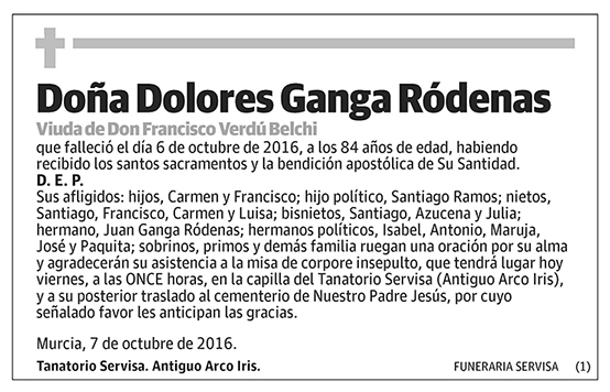 Dolores Ganga Ródenas