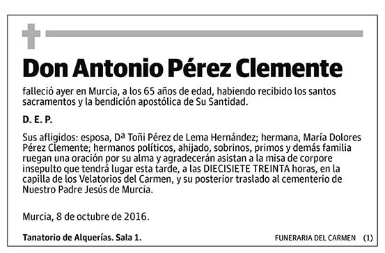 Antonio Pérez Clemente