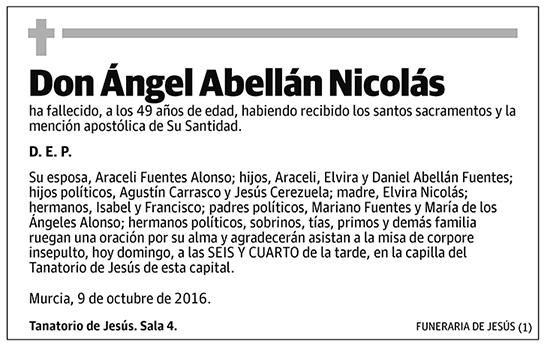 Ángel Abellán Nicolás