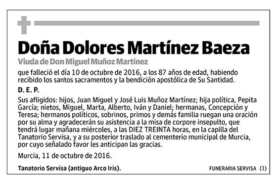 Dolores Martínez Baeza