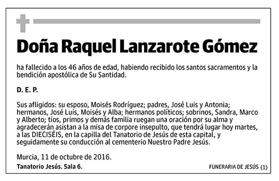 Raquel Lanzarote Gómez