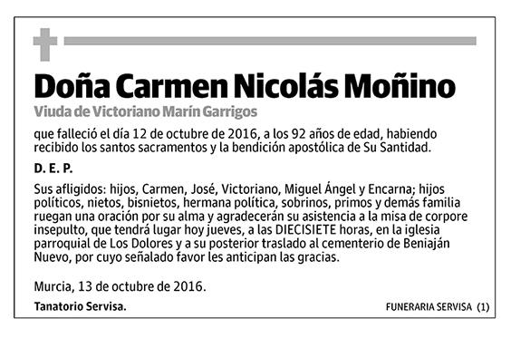 Carmen Nicolás Moñino