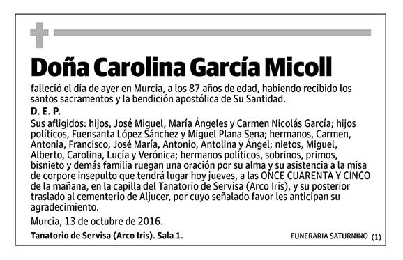 Carolina García Micoll
