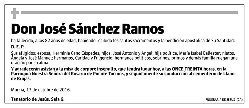 José Sánchez Ramos
