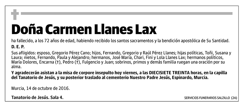 Carmen Llanes Lax