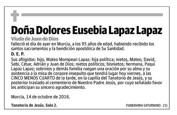 Dolores Eusebia Lapaz Lapaz