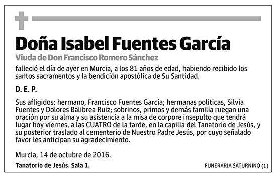 Isabel Fuentes García