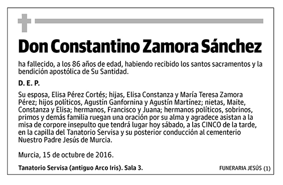 Constantino Zamora Sánchez