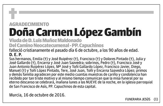 Carmen López Gambín