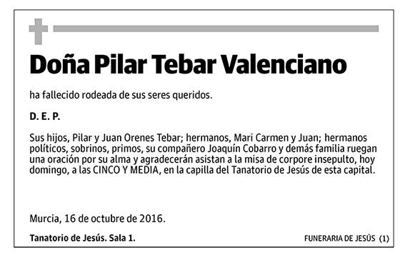 Pilar Tebar Valenciano