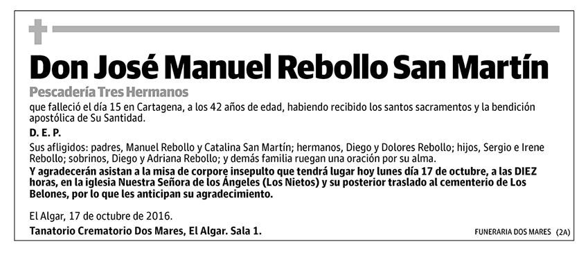 José Manuel Rebollo San Martín