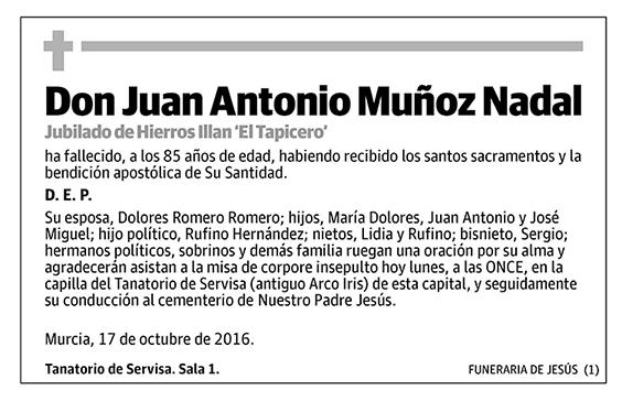 Juan Antonio Muñoz Nadal