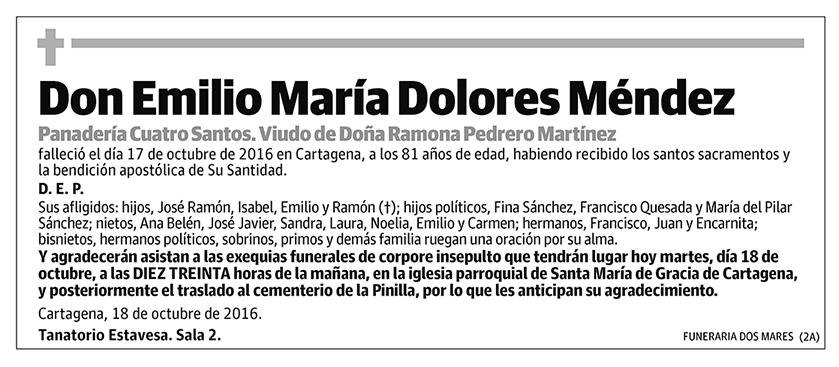 Emilio María Dolores Méndez