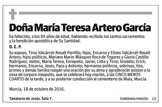 María Teresa Artero García