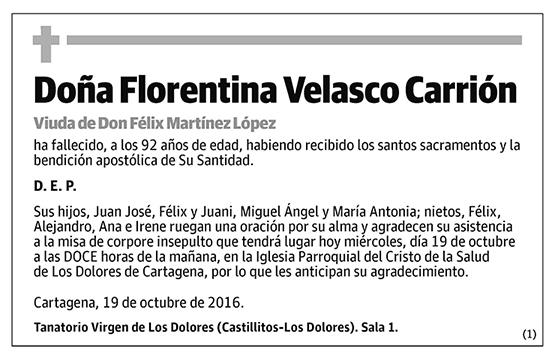 Florentina Velasco carrión
