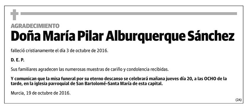María Pilar Alburquerque Sánchez