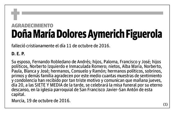 María Dolores Aymerich Figuerola