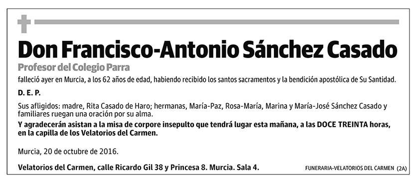 Francisco-Antonio Sánchez Casado