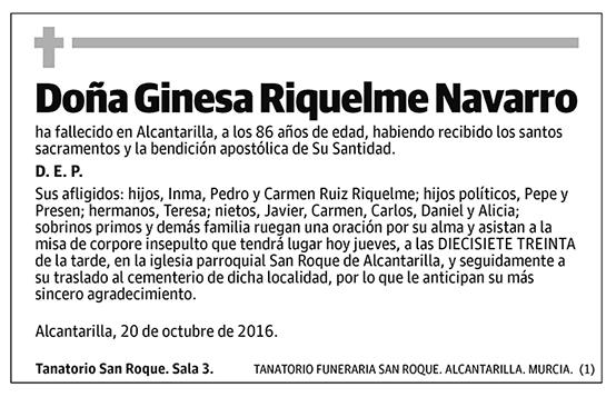 Ginesa Riquelme Navarro