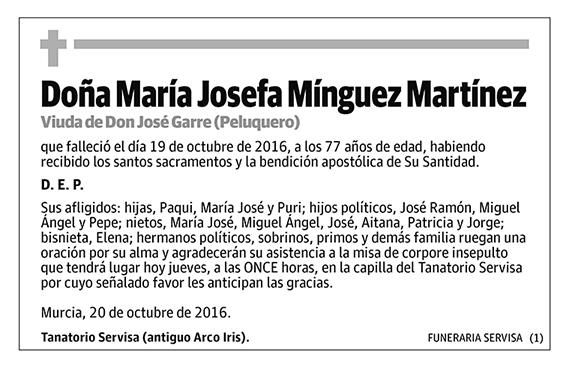 María Josefa Mínguez Martínez