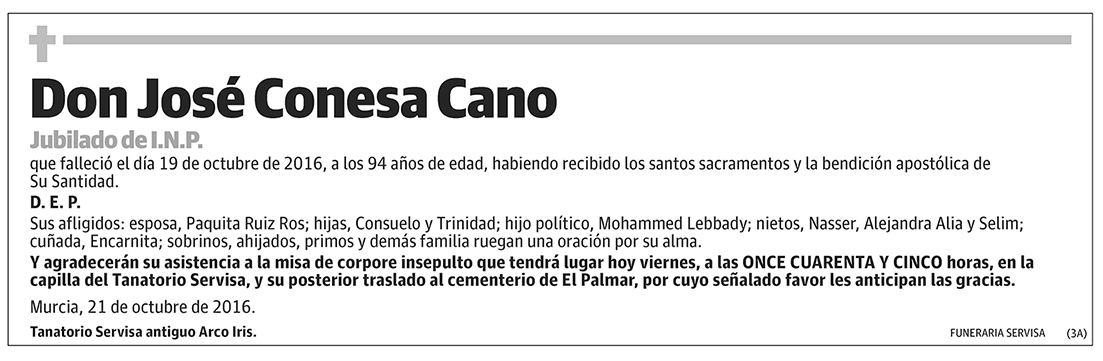 José Conesa Cano