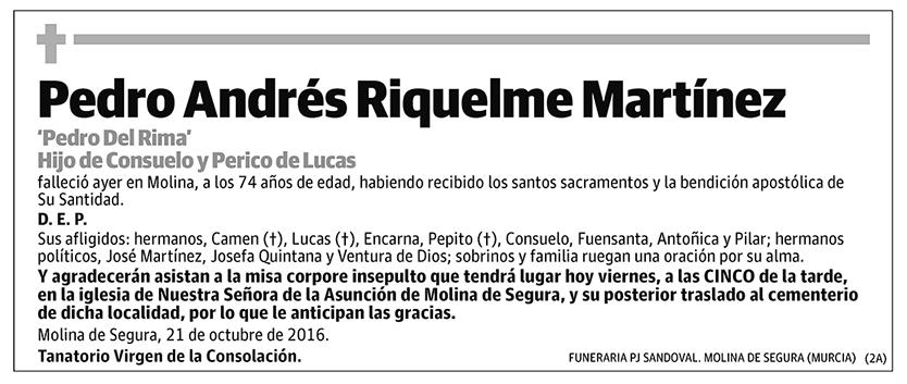 Pedro Andrés Riquelme Martínez