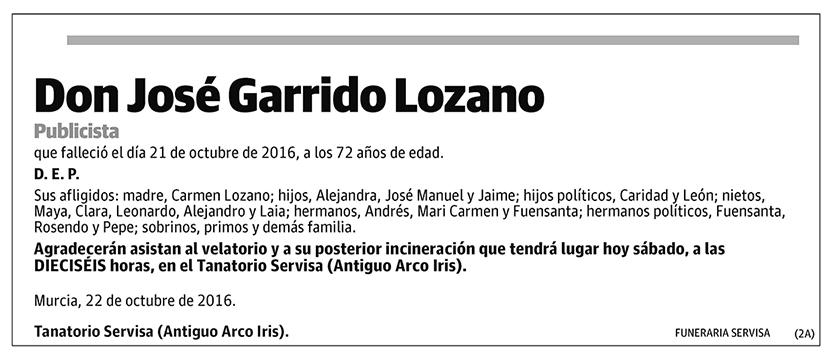 José Garrido Lozano